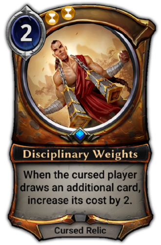 Disciplinary Weights card