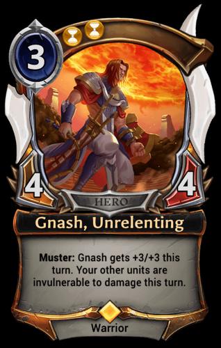 Gnash, Unrelenting card