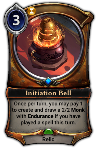 Initiation Bell card