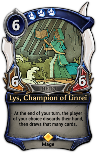Lys, Champion of Linrei card