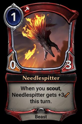 Needlespitter card