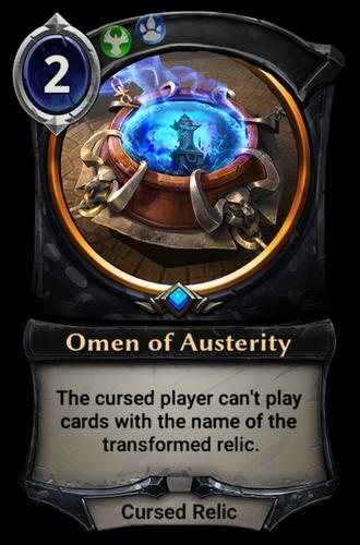 Omen of Austerity card