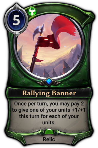 Rallying Banner card
