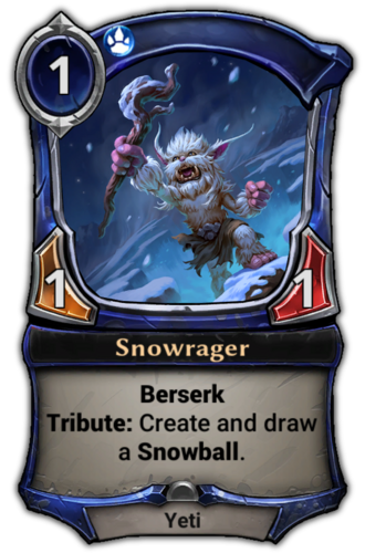 Snowrager card