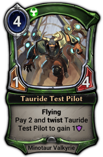 Tauride Test Pilot card