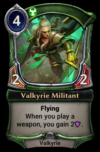 Valkyrie Militant card