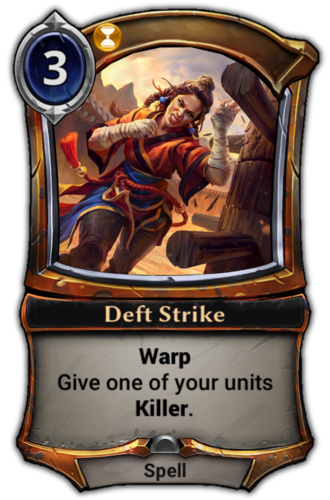 Deft Strike card