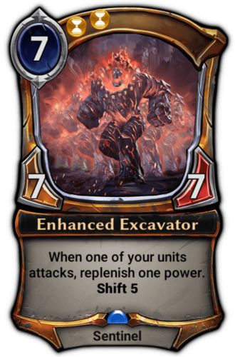 Enhanced Excavator card