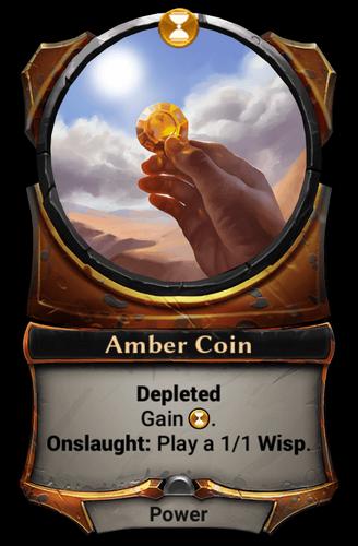 Amber Coin card
