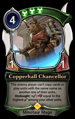 Copperhall Chancellor card