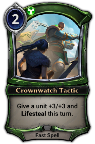 Crownwatch Tactic card