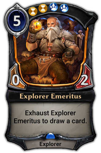 Explorer Emeritus card