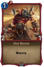 Oni Ronin - Alpha