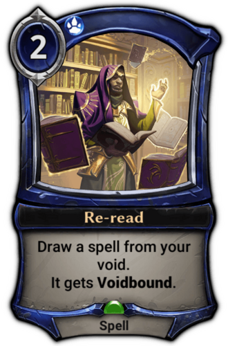 Re-read card