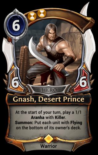 Gnash, Desert Prince card