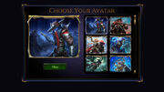 Screenshot - Avatar Selection