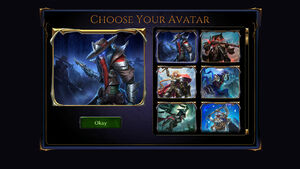 Screenshot - Avatar Selection