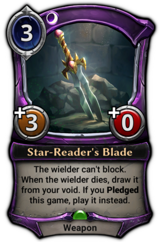 Star-Reader's Blade card