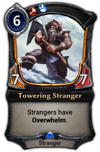 Towering Stranger card