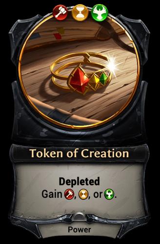 Token of Creation card