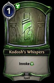 Kodosh's Whispers