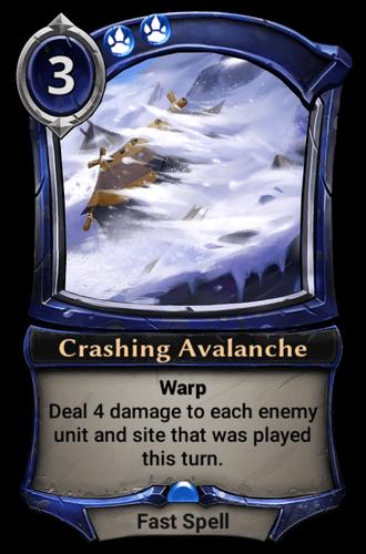 Crashing Avalanche card
