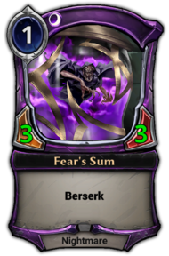 Fear's Sum