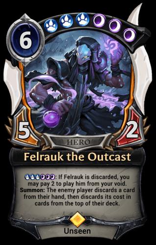 Felrauk the Outcast card