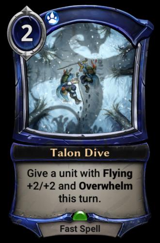 Talon Dive card
