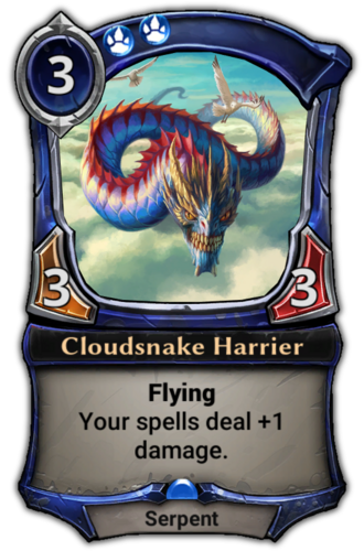 Cloudsnake Harrier card