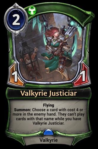 Valkyrie Justiciar card