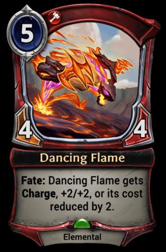 Dancing Flame card