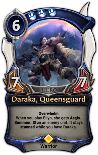 Daraka, Queensguard card