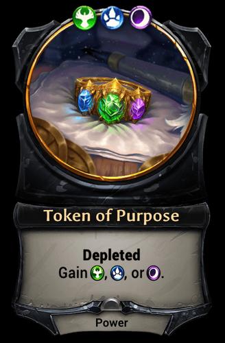 Token of Purpose card