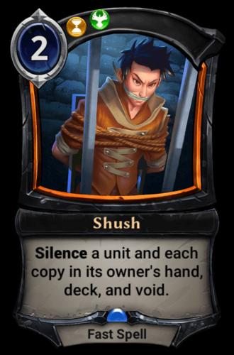 Shush card