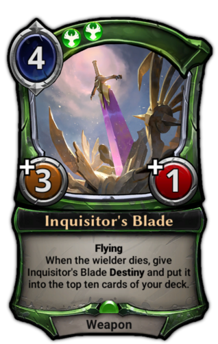 Inquisitor's Blade card
