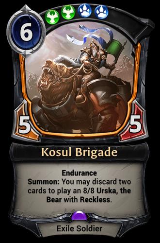 Kosul Brigade card