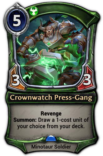Crownwatch Press-Gang card