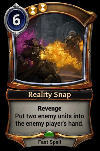 Reality Snap card