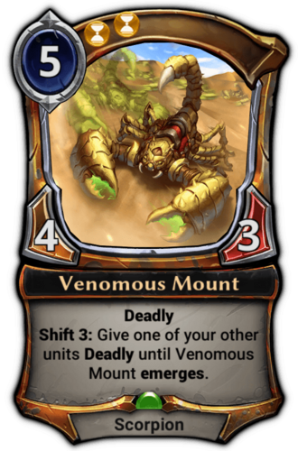 Venomous Mount card