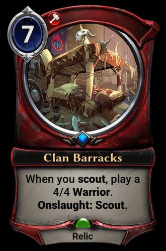 Clan Barracks card
