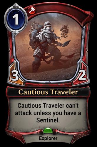 Cautious Traveler card