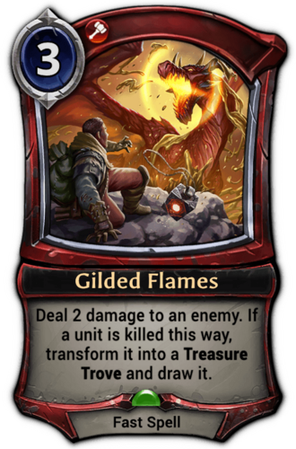 Gilded Flames card