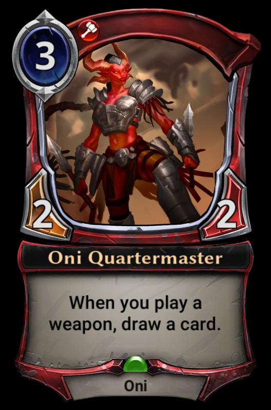oni quartermaster eternal card game wikia fandom powered by wikia