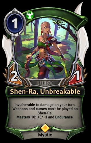 Shen-Ra, Unbreakable card