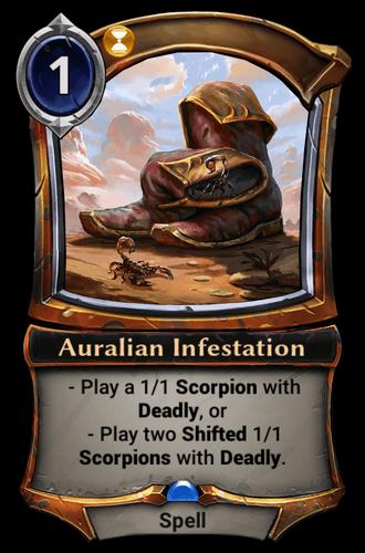 Auralian Infestation card