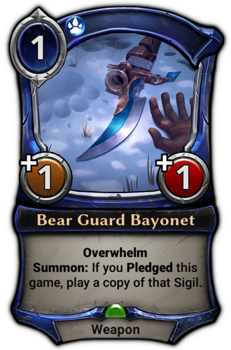 Bear Guard Bayonet card