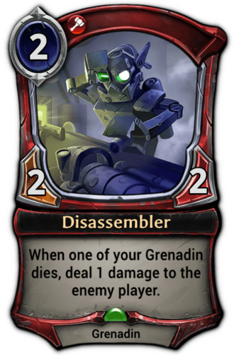Disassembler card