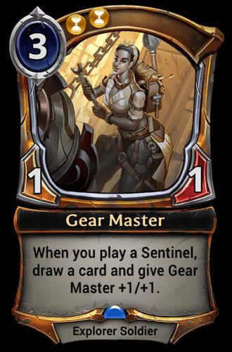 Gear Master card