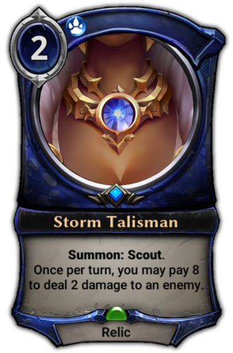 Storm Talisman card